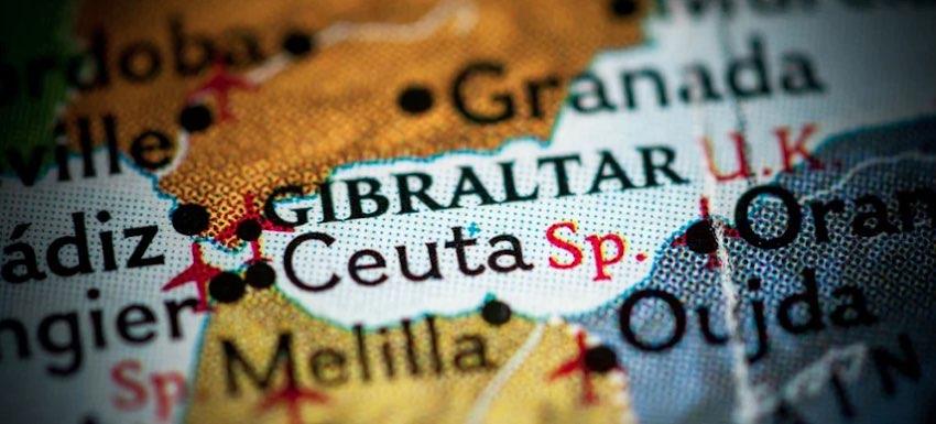 mapa Ceuta Gibraltar